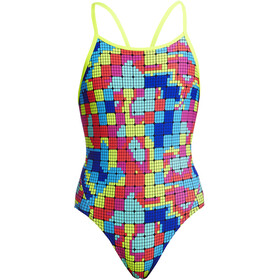 Funkita Diamond Back One Piece Badeanzug Mädchen heat map